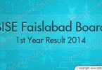 1st Year Result 2014 Faisalabad Board