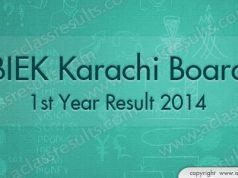 1st Year Result Karachi 2018