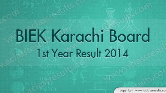1st Year Result Karachi 2018