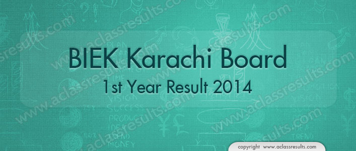Karachi Board First Year Result 2018