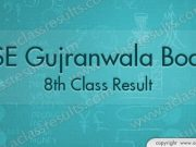 Gujranwala Board 8th Class Result 2018