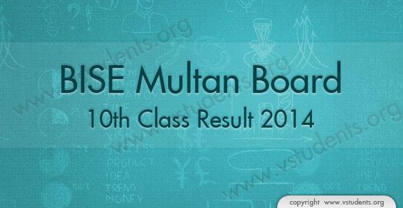 BISE Multan Board 10th Class Result 2019