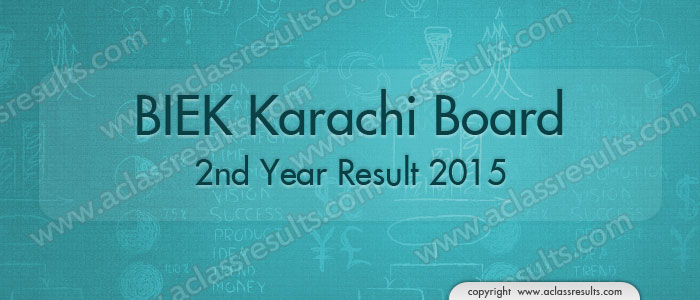 Karachi Board second Year Result 2018