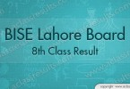8th Class Result 2016 Lahore Board