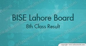 Lahore Board 8th Class Result 2018