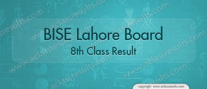 Lahore Board 8th Class Result 2019