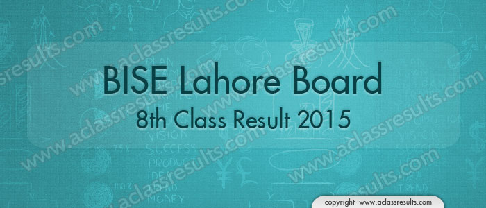 8th Result Lahore Board 2015