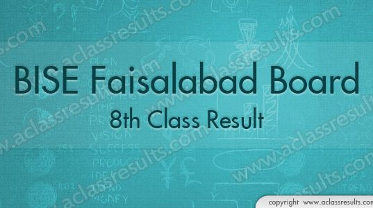 Faisalabad Board 8th Class Result 20118