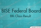 8th Class Result 2016 Federal Board