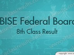 Federal Board 8th Class Result 2018