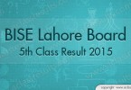 Lahore 5th Class Result