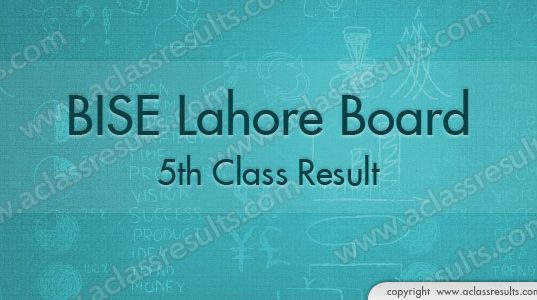 Lahore 5th Class Result 2018