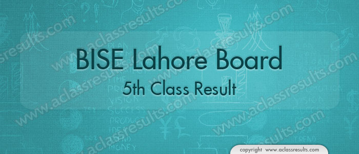 Lahore Board 5th Class Result 2018