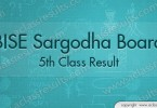 Sargodha board 5th Class Result