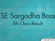 Sargodha board 5th Class Result 2018