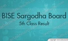 Sargodha board 5th Class Result