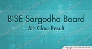 Sargodha board 5th Class Result 2018