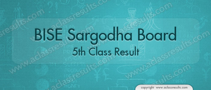 5th Class Result 2019 Sargodha board
