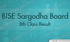 Sargodha Board 8th Calss Result 2018