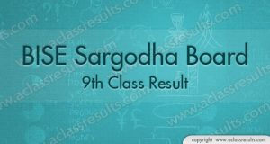 Sargodha 9th Class Result 2018