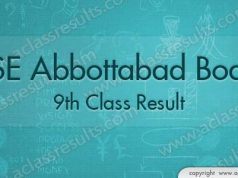 9th Class Result Abbottabad