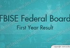 Federal Board First Year Result