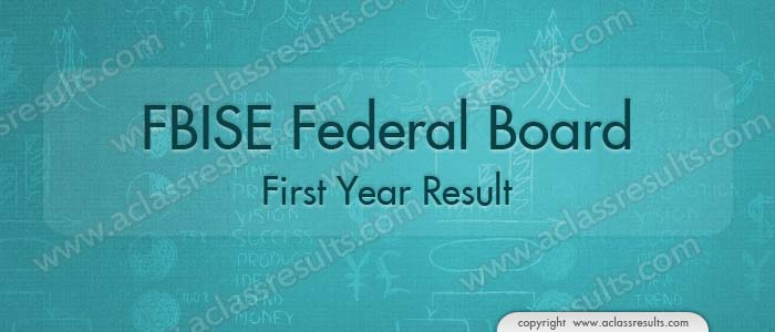 FBISE First Year Result 2018