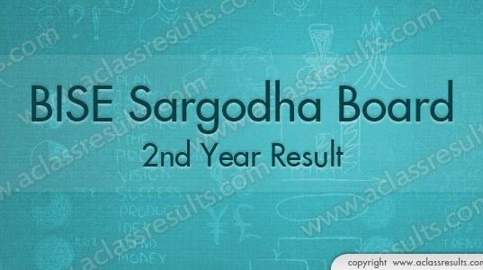 Sargodha board 2nd Year Result 2018