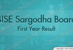 First Year Result 2016 Sargodha board