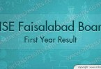 First Year Result Faisalabad Board 2016