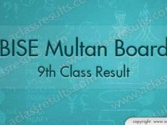 9th Class Result Multan Board 2018