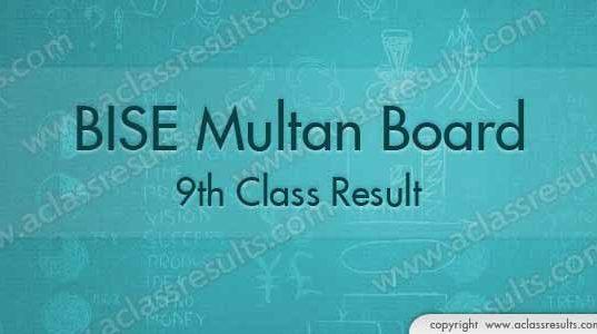 9th Class Result Multan Board 2018