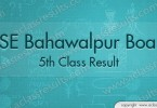 Bahawalpur 5th Class Result 2018