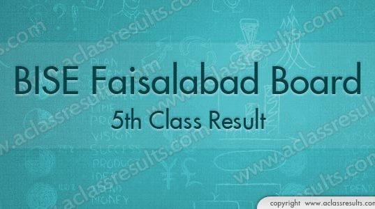 Faisalabad Board 5th Class Result