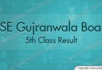 Gujranwala Board 5th Class Result 2018