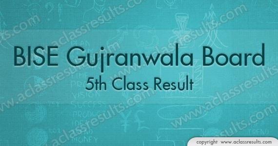 5th Class Result 2016 Gujranwala Board