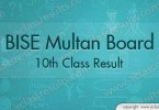 BISE Multan Board Matric Result 2017