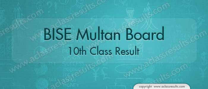 Multan Board 10th Class Result 2017