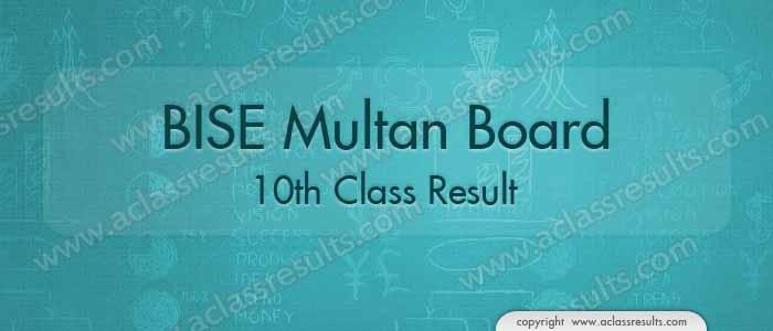 Multan Board 10th Class Result 2018