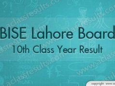 Lahore Board 10th class result 2018