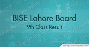 Lahore Board 9th Class Result 2018