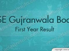 Gujranwala Board First Year Result 2018