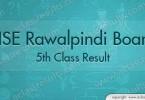 Rawalpindi board 5th Class Result 2018