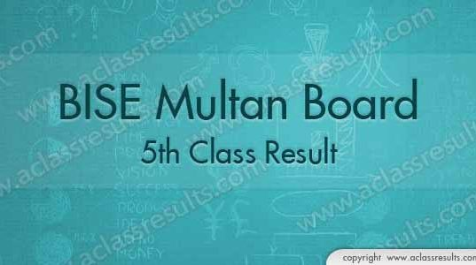 Multan Board 5th Class Result 2018