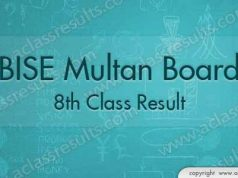 Multan Board 8th Result 2018