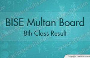 Multan Board 8th Result 2018