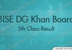 DG Khan 5th Class Result 2018