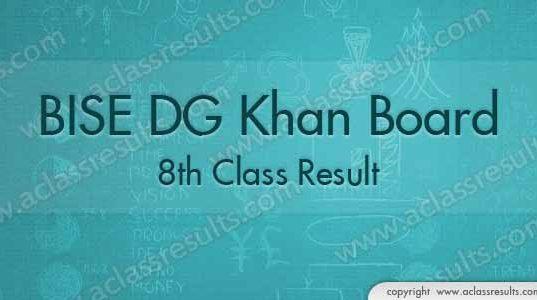DG Khan 8th Class Result 2018