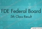 Federal Board 5th Class Result 2017