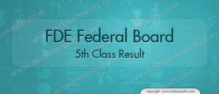 Federal Board 5th Class Result 2019